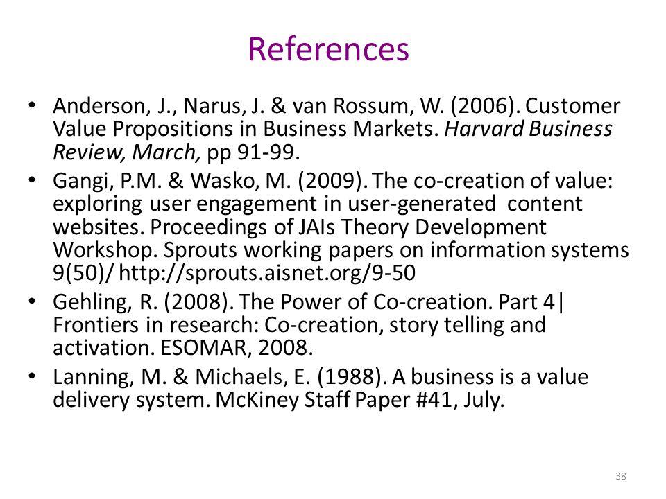 References Anderson, J., Narus, J. & van Rossum, W.