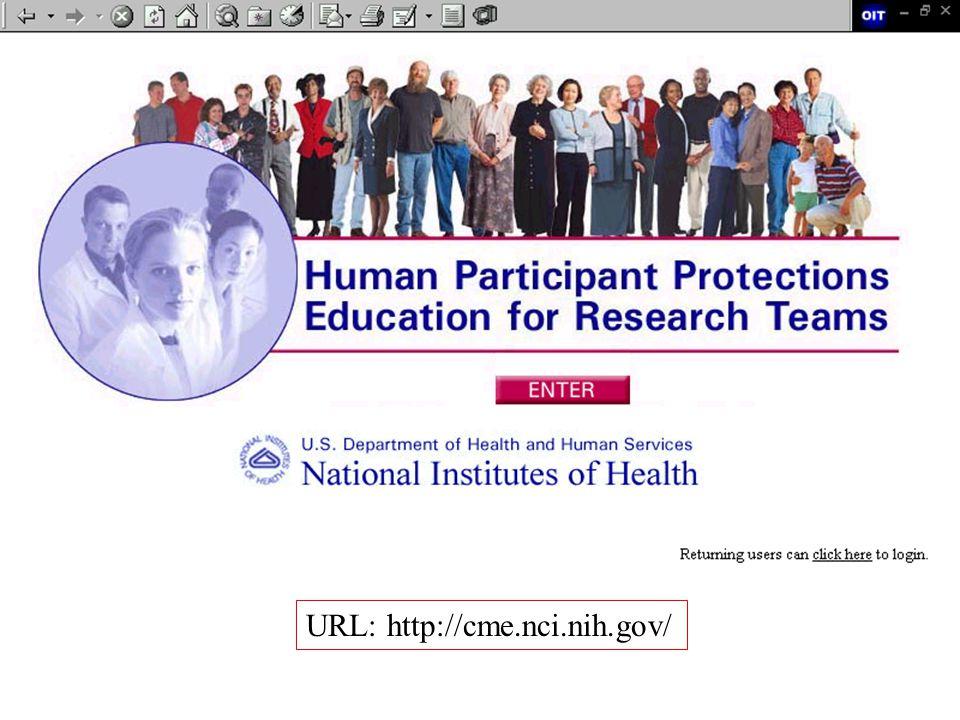 URL: http://cme.nci.nih.gov/