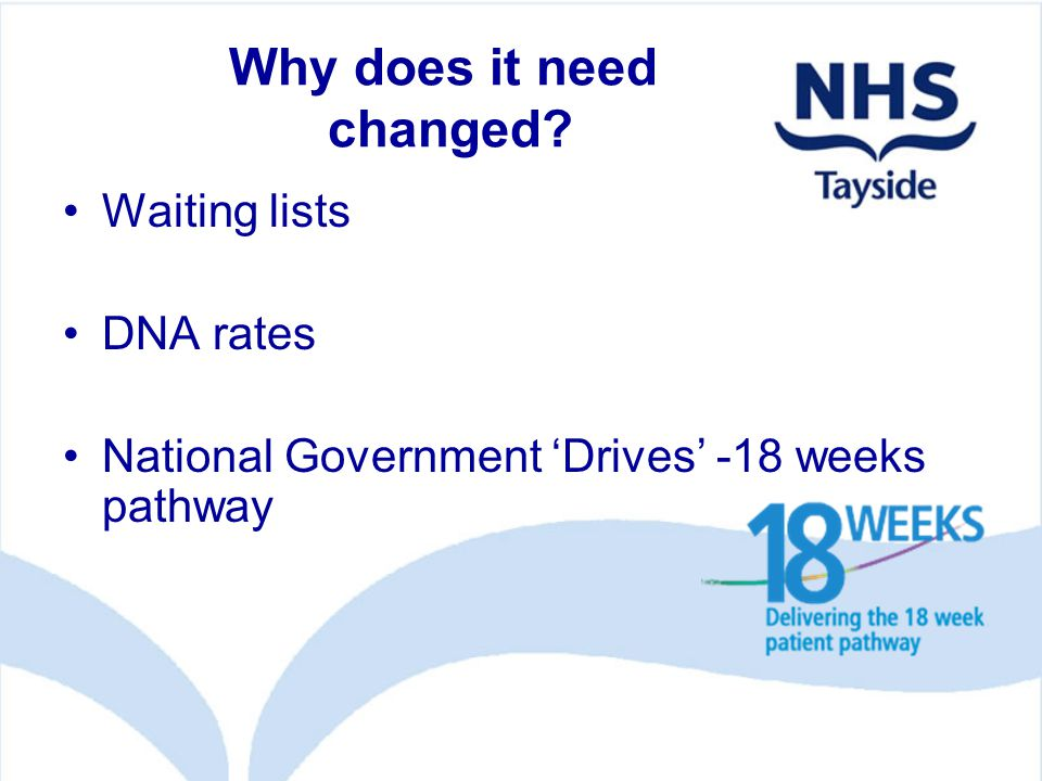 What needs changed.Clinic times . Patient information .
