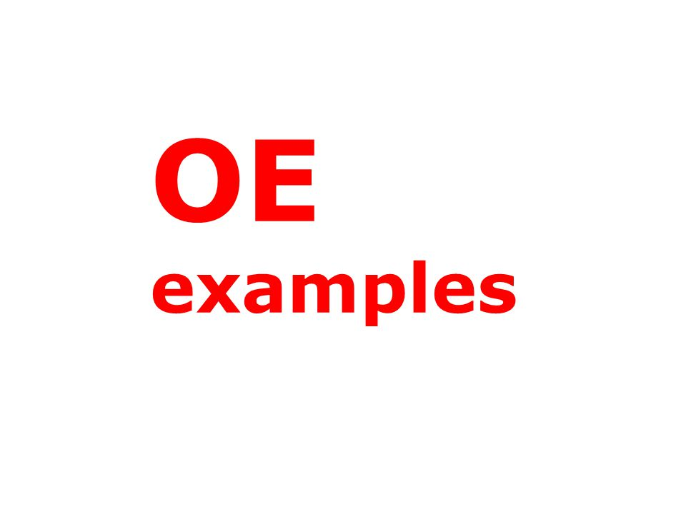 OE examples