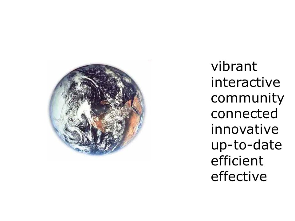 vibrant interactive community connected innovative up-to-date efficient effective