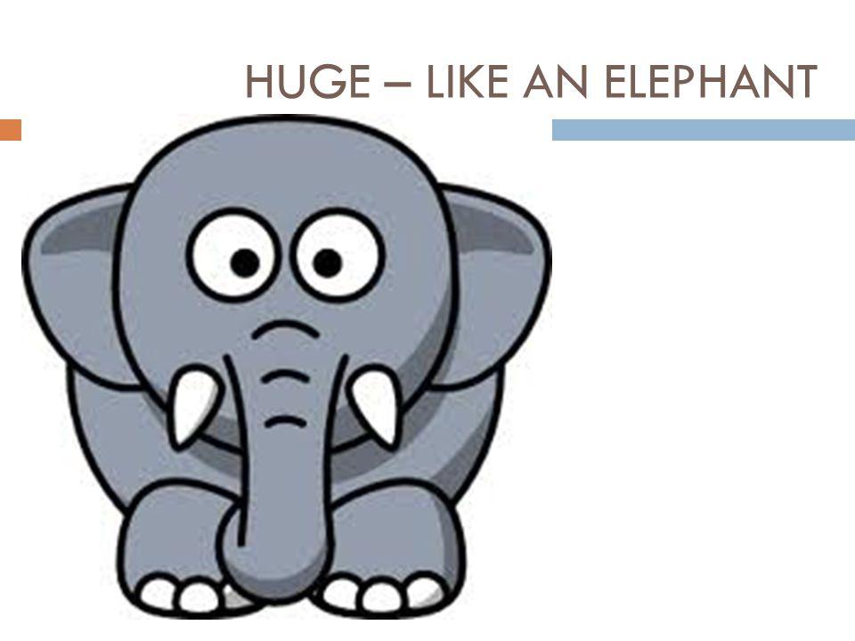 HUGE – LIKE AN ELEPHANT