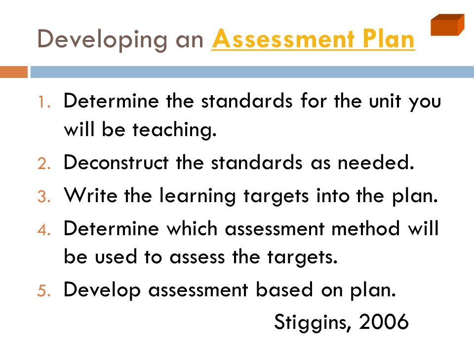 Developing an Assessment PlanAssessment Plan 1.