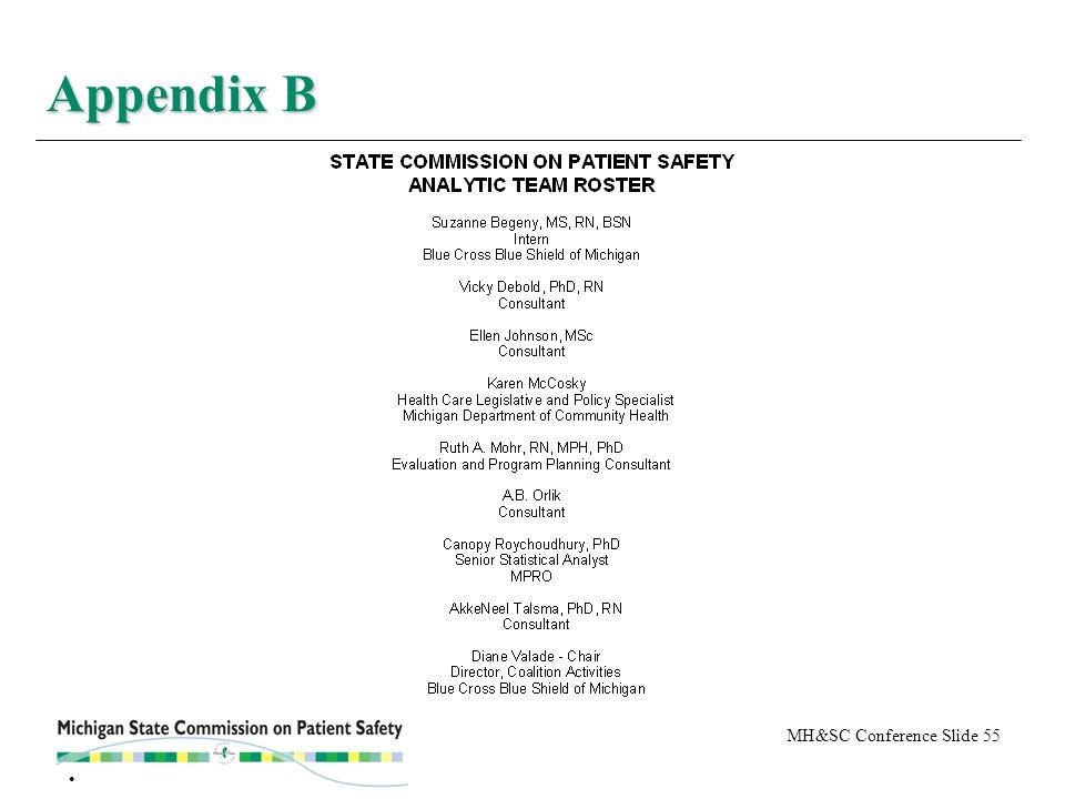 MH&SC Conference Slide 55 Appendix B