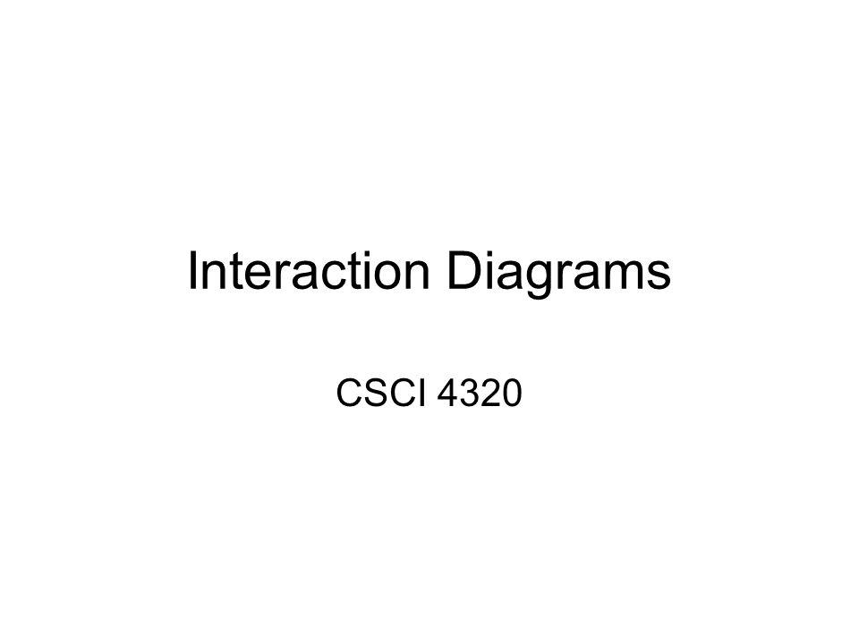 Interaction Diagrams CSCI 4320