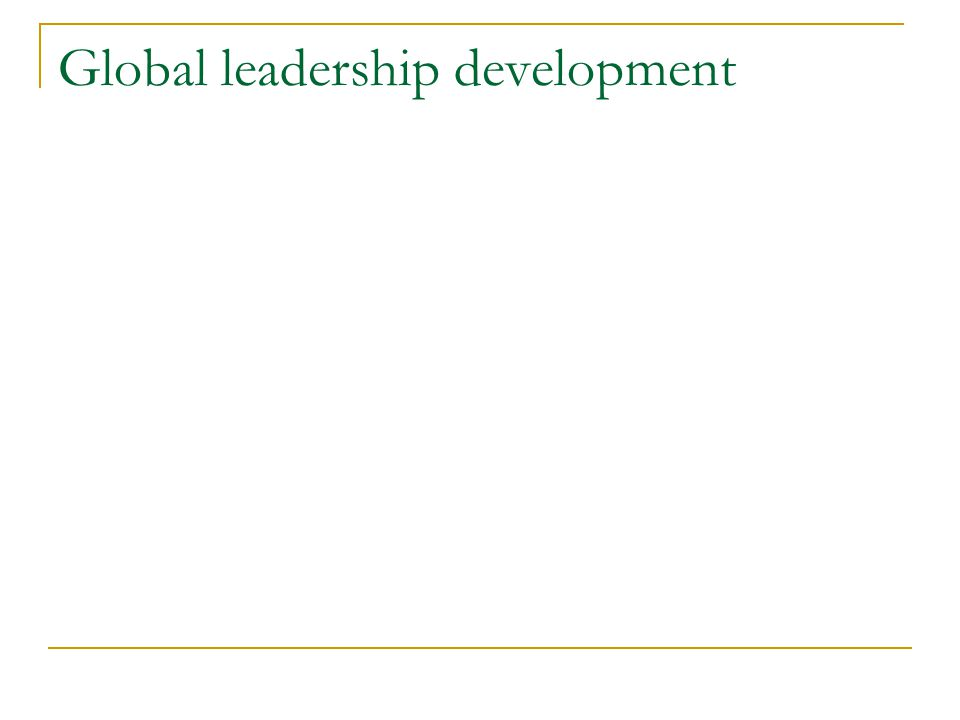 Global leadership theories GLOBE research Trompenaars and Hampden-Turner Kets de Vries