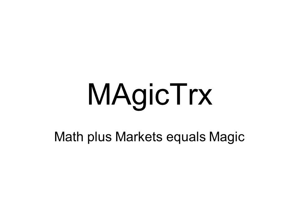 MAgicTrx Math plus Markets equals Magic