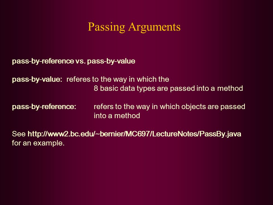 Passing Arguments pass-by-reference vs.