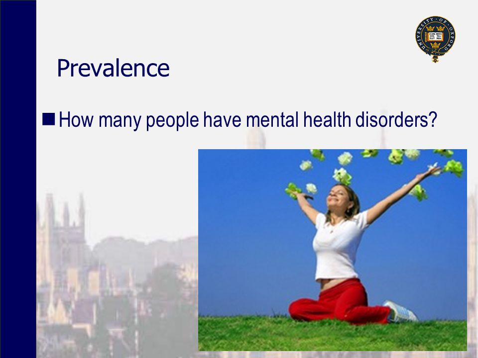 Prevalence How many people have mental health disorders