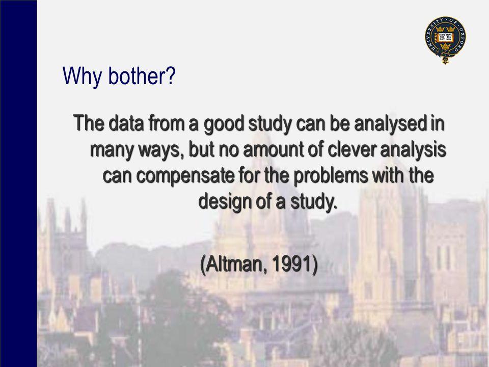 Ecological Studies Large unit of analysis (e.g.