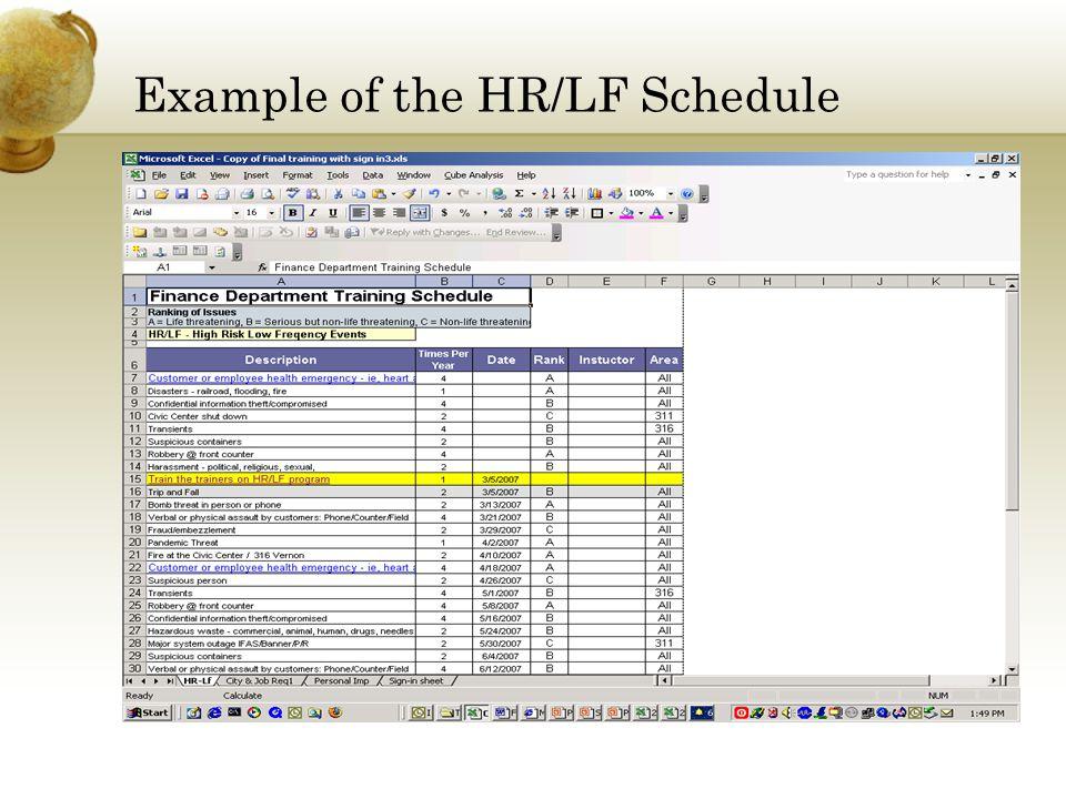 Instructors Schedule