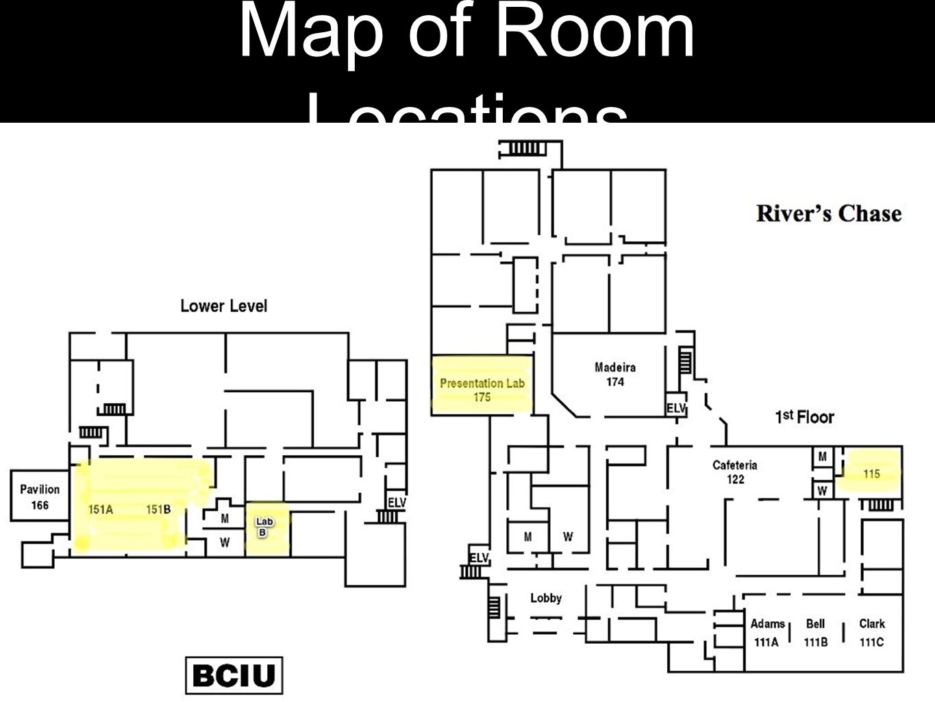 Map of Room Locations