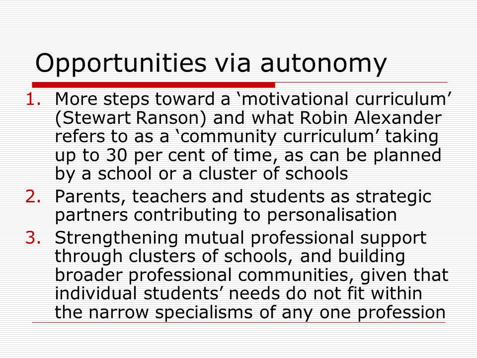 School councils/boards  Do governing boards really matter.