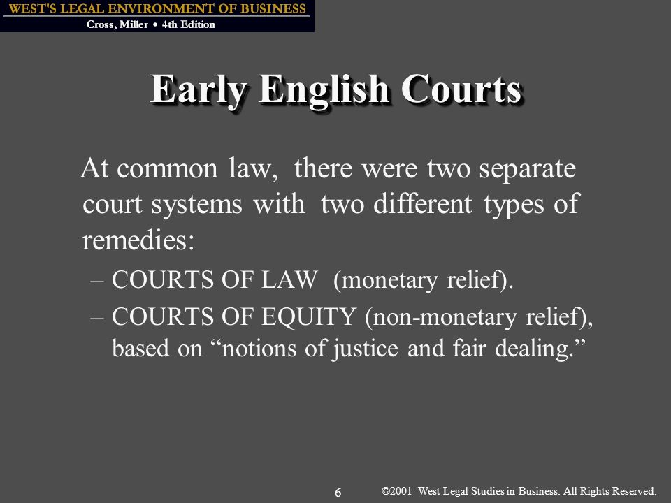©2001 West Legal Studies in Business. All Rights Reserved.