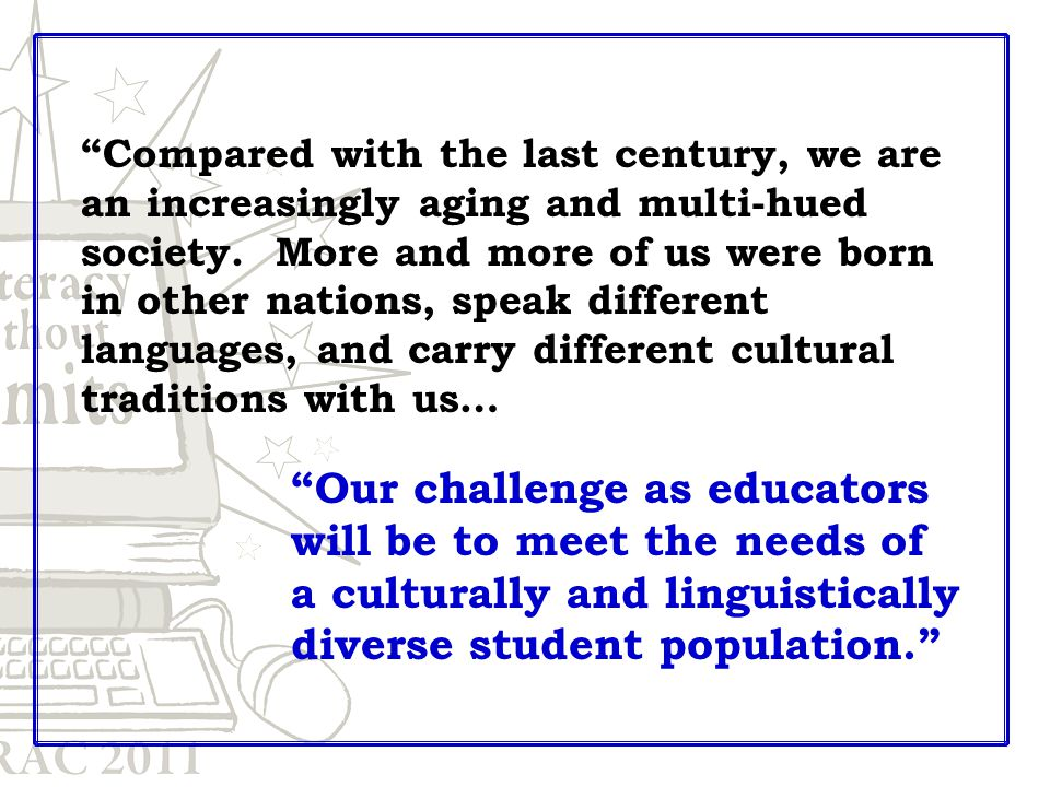Compared with the last century, we are an increasingly aging and multi-hued society.
