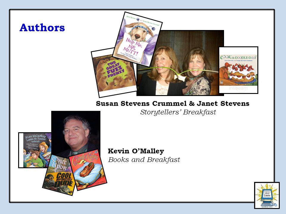 Authors Susan Stevens Crummel & Janet Stevens Storytellers' Breakfast Kevin O'Malley Books and Breakfast