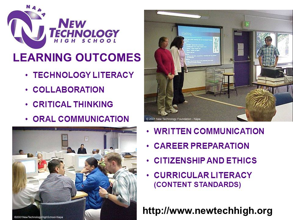 LEARNING OUTCOMES TECHNOLOGY LITERACY COLLABORATION CRITICAL THINKING ORAL COMMUNICATION WRITTEN COMMUNICATION CAREER PREPARATION CITIZENSHIP AND ETHI