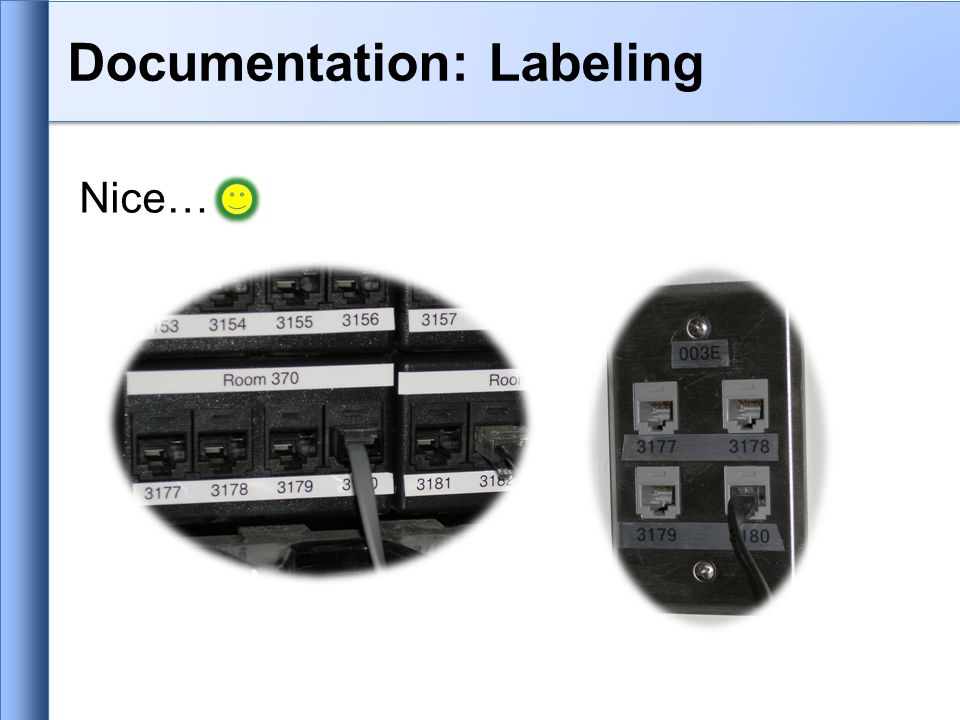 Nice… Documentation: Labeling