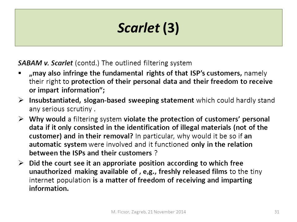 Scarlet (3) SABAM v.