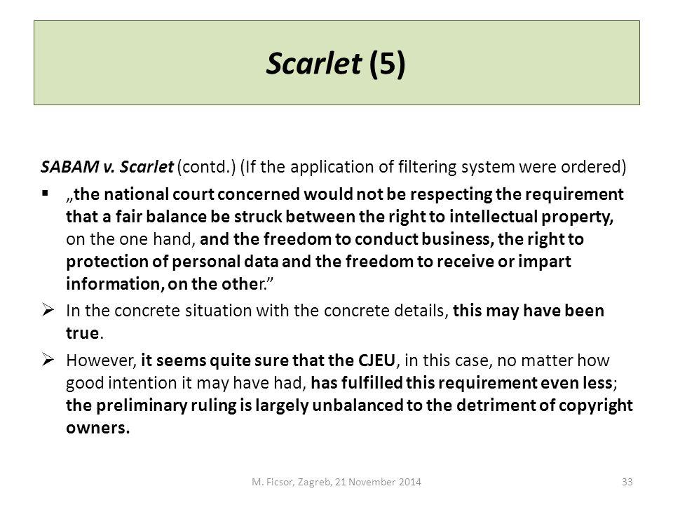 Scarlet (5) SABAM v.
