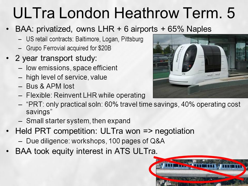ULTra London Heathrow Term.