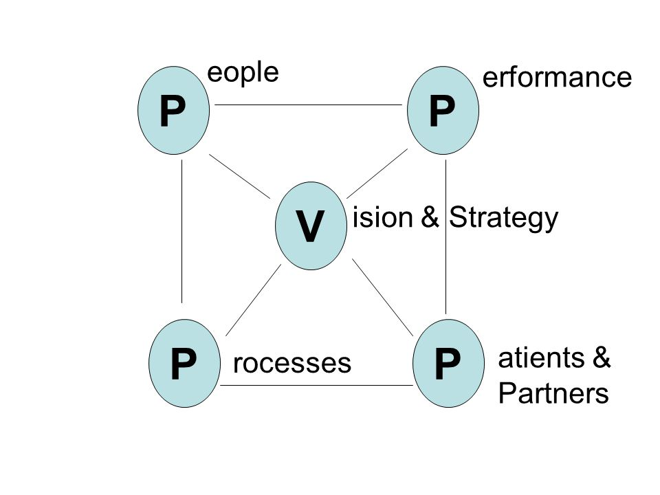 P P P P V eople erformance ision & Strategy atients & Partners rocesses
