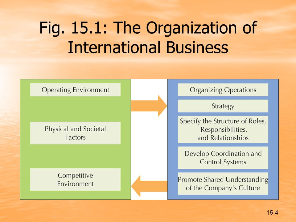 15-4 Fig. 15.1: The Organization of International Business