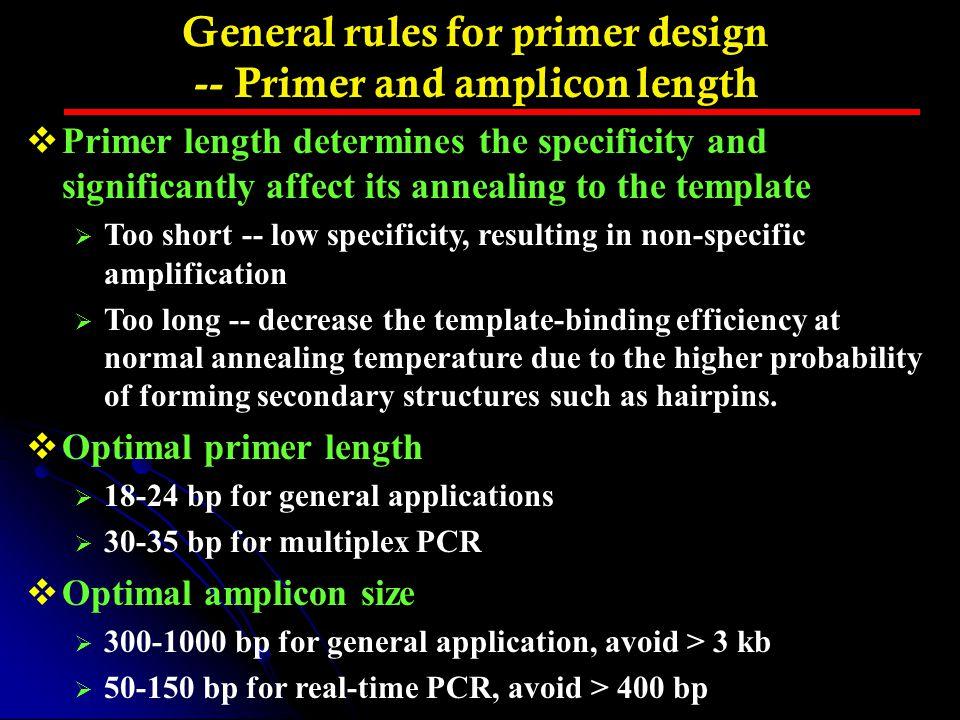Resources for real time PCR– QPPD Web Site: http://web.ncifcrf.gov/rtp/GEL/primerdb/default.asp More Info: http://www.hsls.pitt.edu/guides/genetics/obrc/dna/pcr_oligos/URL1152117830/info
