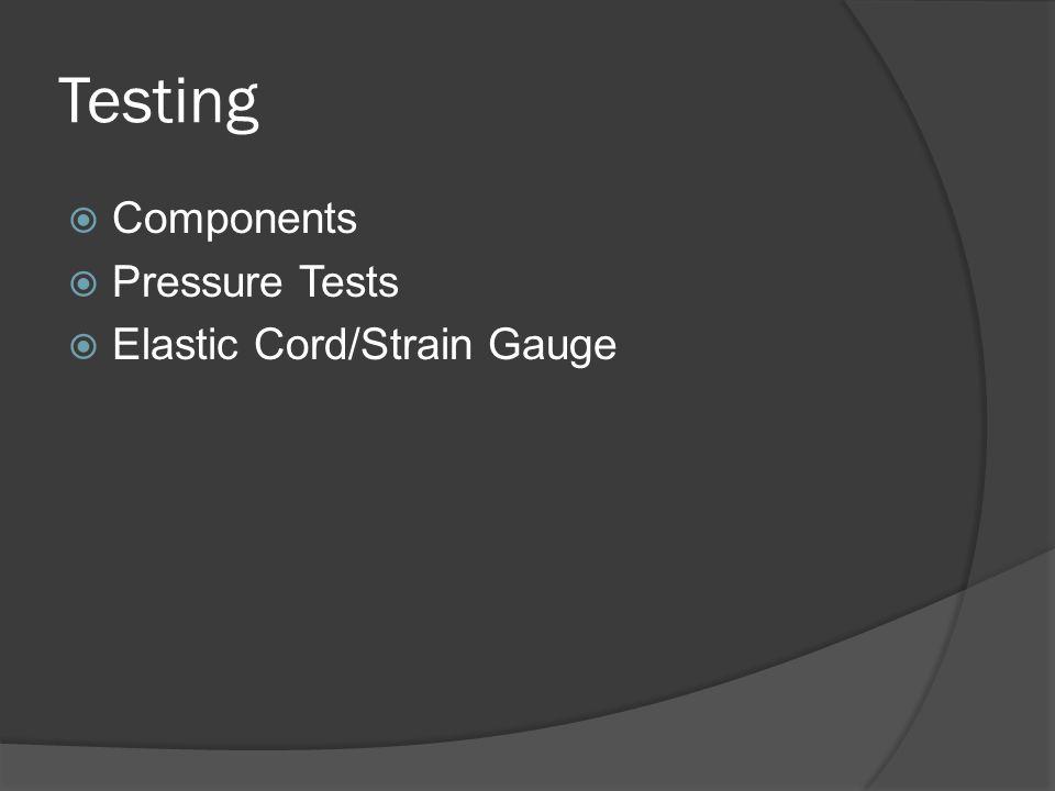Testing  Components  Pressure Tests  Elastic Cord/Strain Gauge