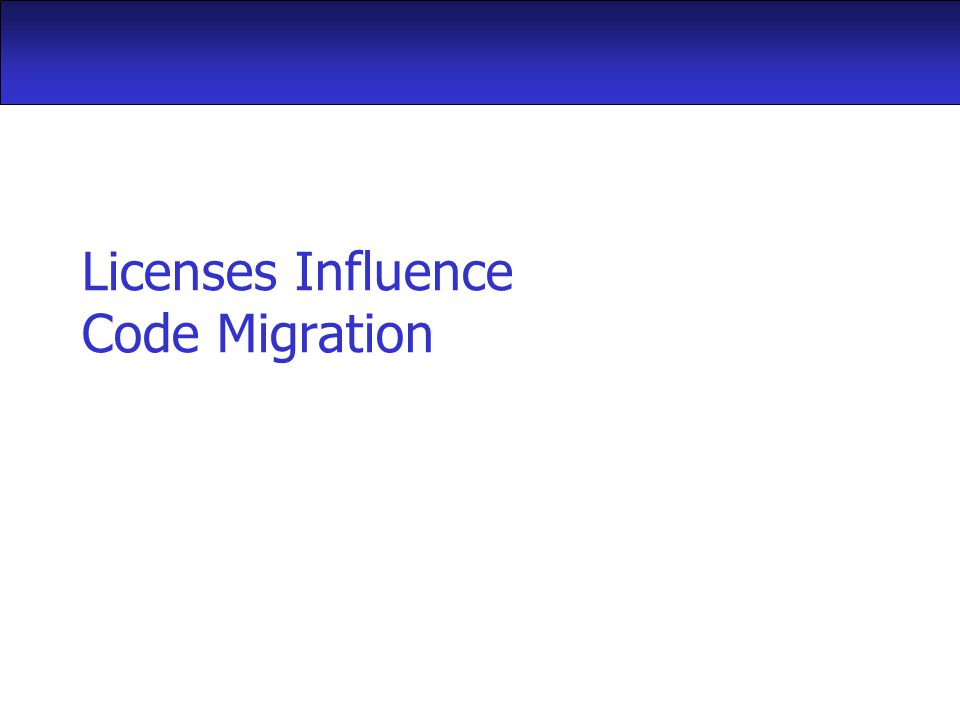 Licenses Influence Code Migration