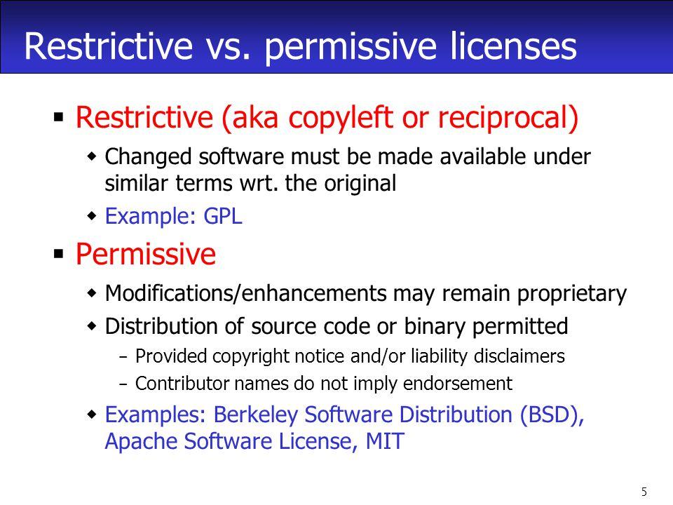 5 Restrictive vs.