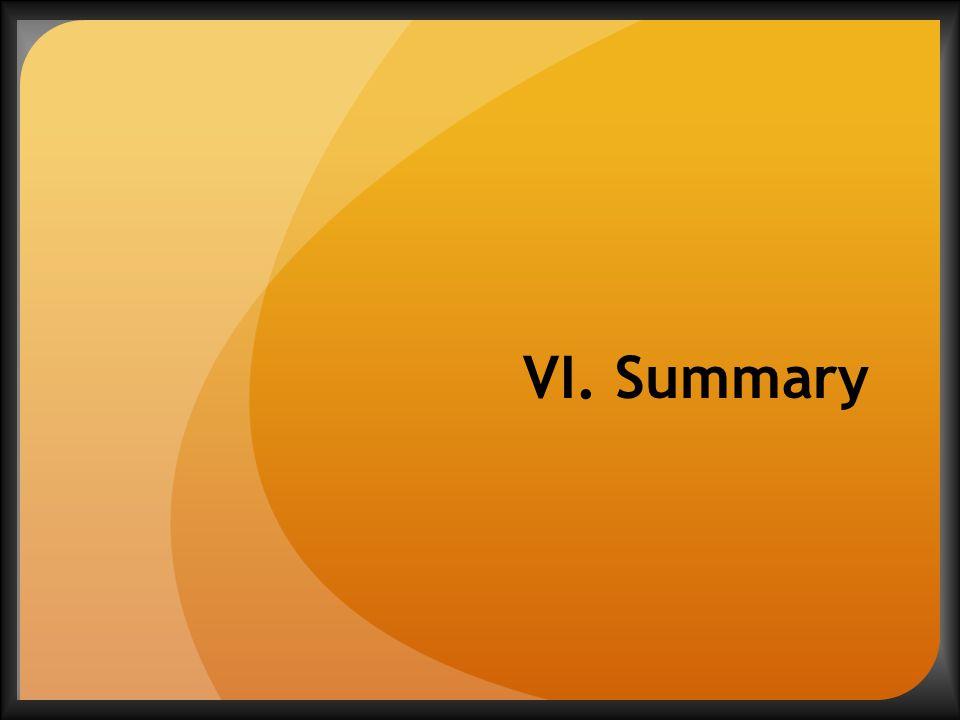 VI. Summary