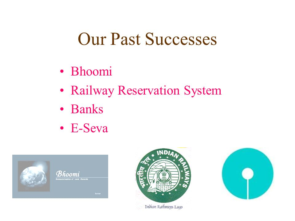 Our Past Successes Bhoomi Railway Reservation System Banks E-Seva