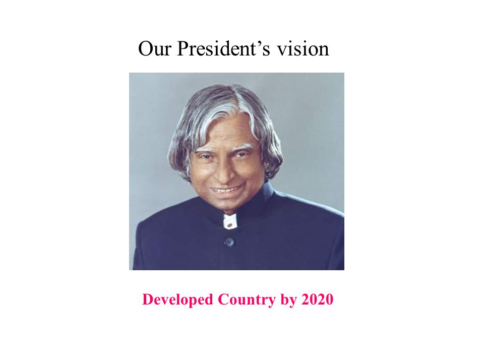 Developed Country by 2020 Our President's vision