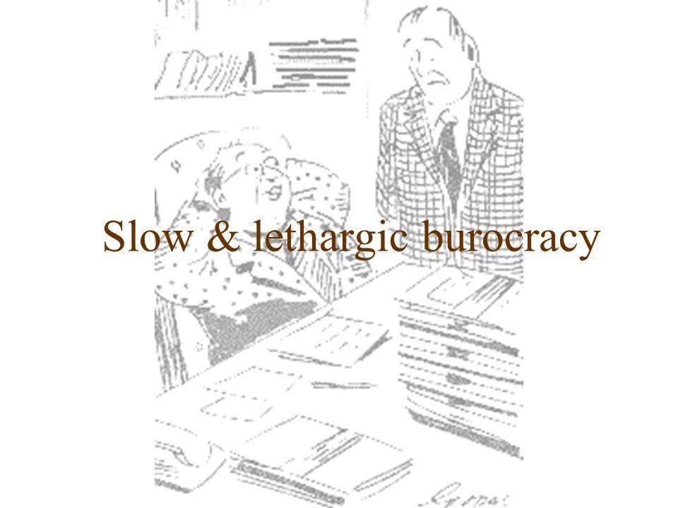 Slow & lethargic burocracy