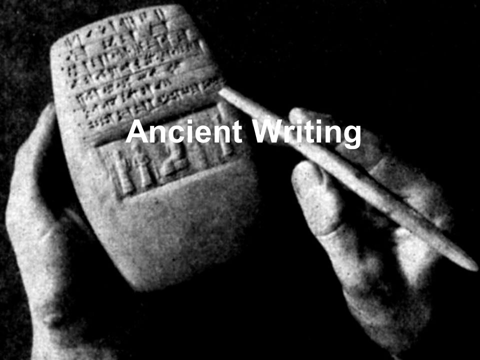 Writing Still Undeciphered Key to deciphering began with Rosetta Stone and Jean Champollion Proto-Sinaitic script in Egypt dated 1500BCE Phaistos Disc in Crete, 1700BCE (possibly world's 1 st printed document)