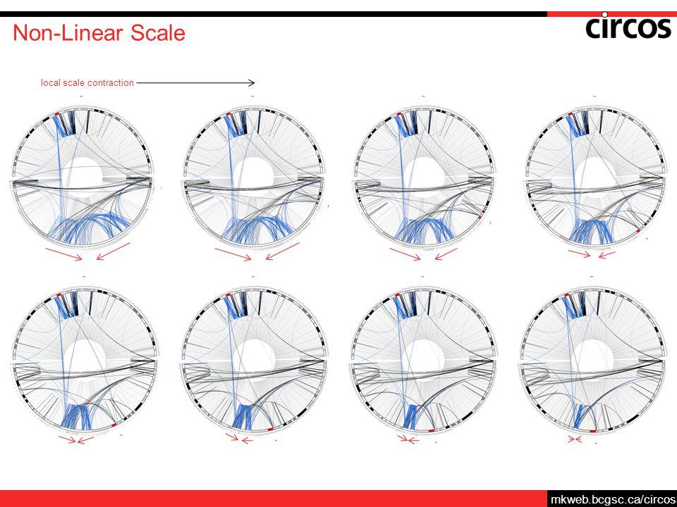 mkweb.bcgsc.ca/circos Non-Linear Scale local scale contraction