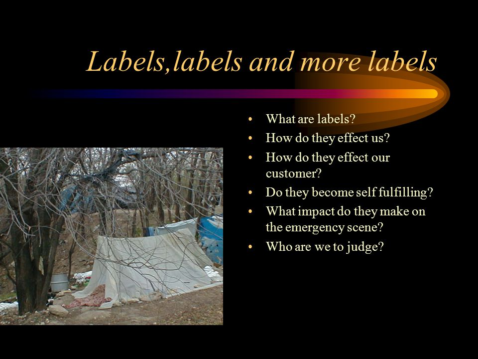 Labels,labels and more labels What are labels. How do they effect us.