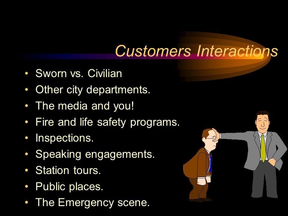 Customers Interactions Sworn vs. Civilian Other city departments.