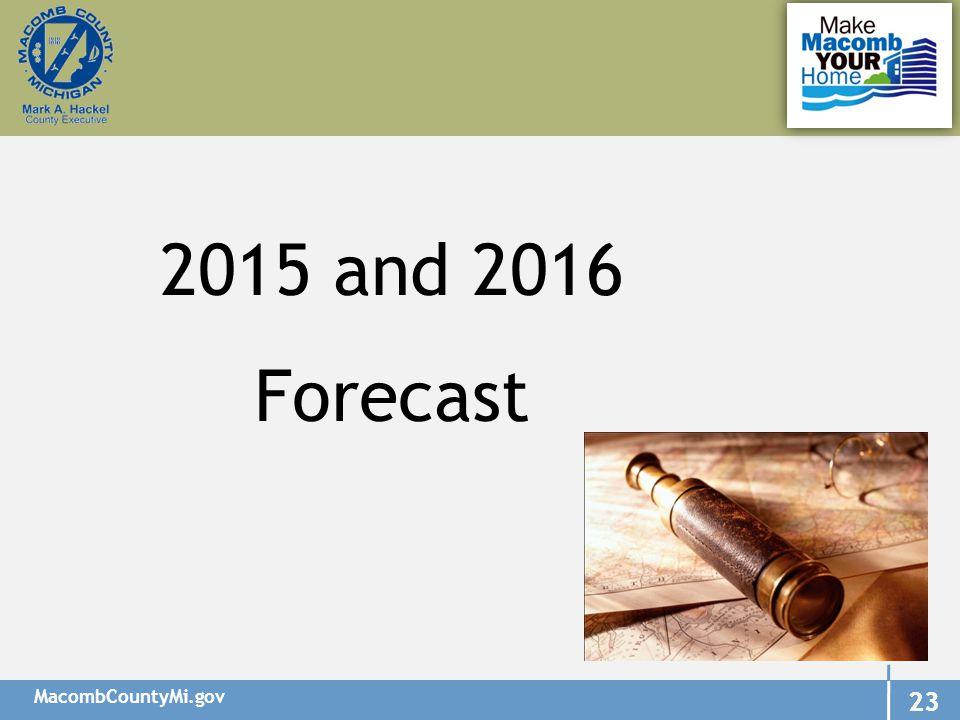 MacombCountyMi.gov 23 2015 and 2016 Forecast