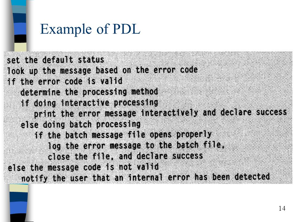 14 Example of PDL