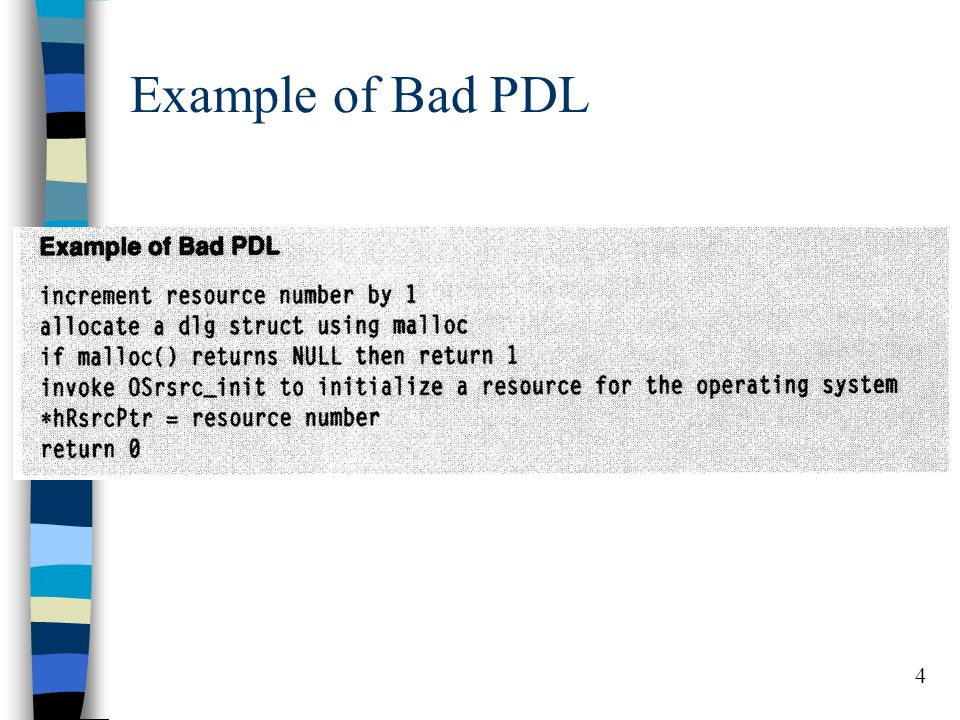 4 Example of Bad PDL