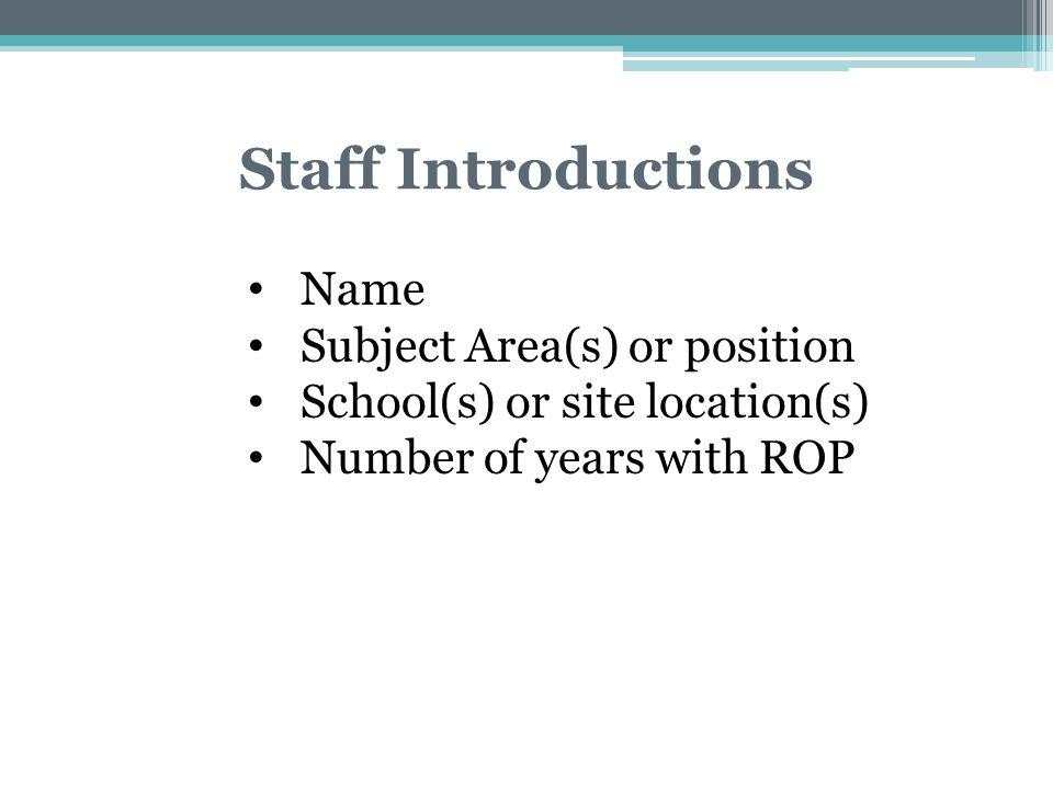 Teacher Survey Results & YFIOB Shareen Bell