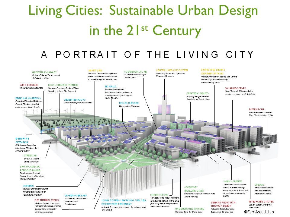 Living Cities: Sustainable Urban Design in the 21 st Century