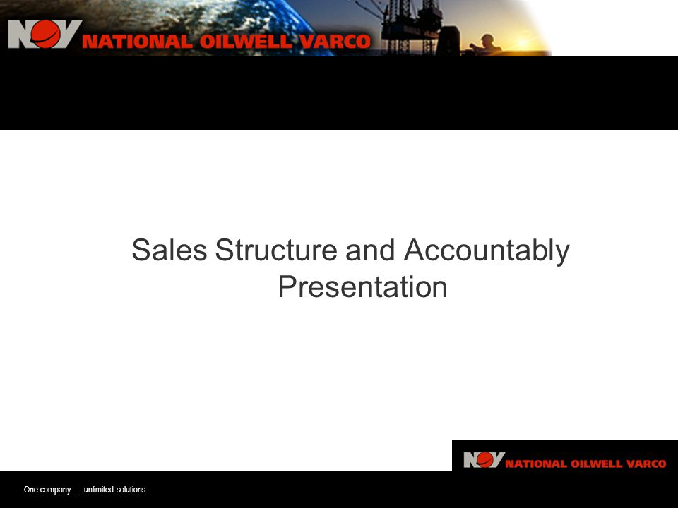 One company … unlimited solutions Sales Sturture and Accoutablitiy Pre Sales Structure and Accountably Presentation