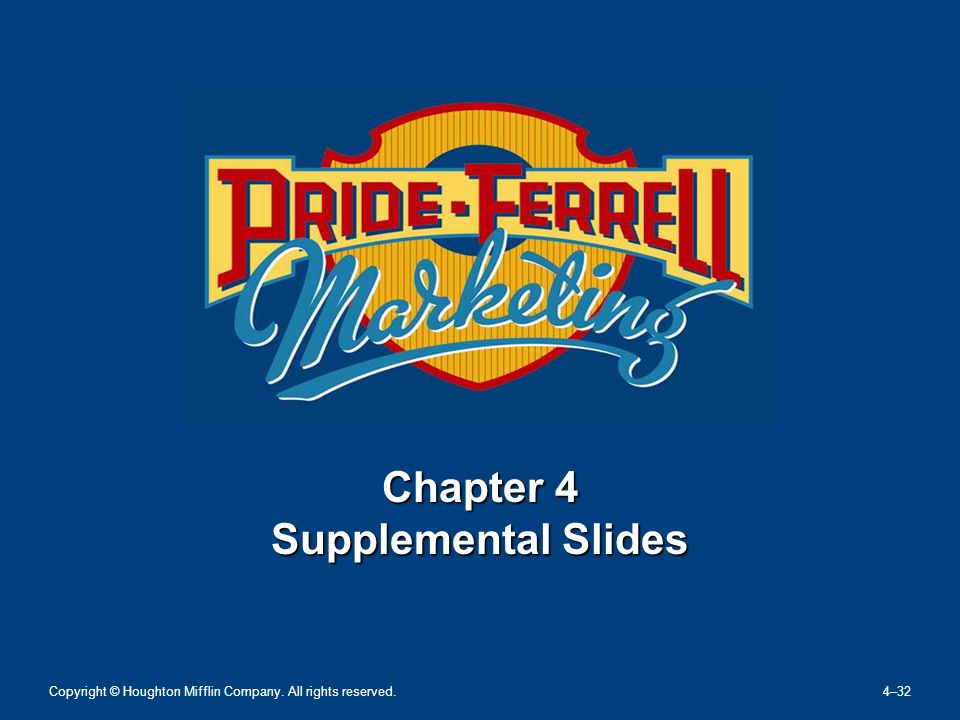 Chapter 4 Supplemental Slides Copyright © Houghton Mifflin Company. All rights reserved. 4–32