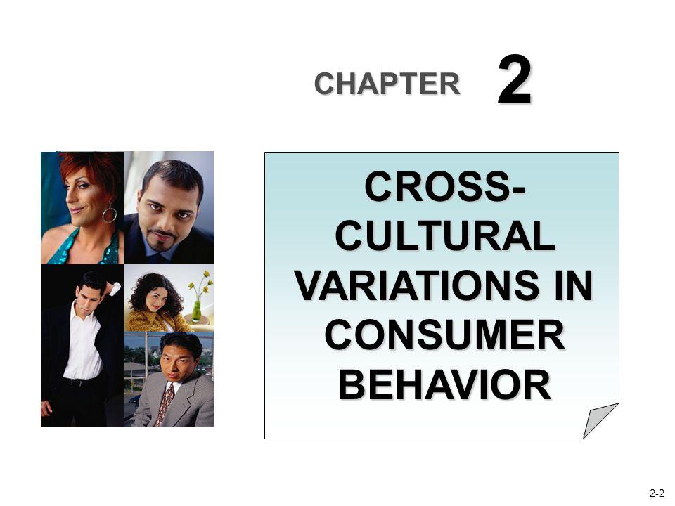 CHAPTER 2 CROSS- CULTURAL VARIATIONS IN CONSUMER BEHAVIOR 2-2
