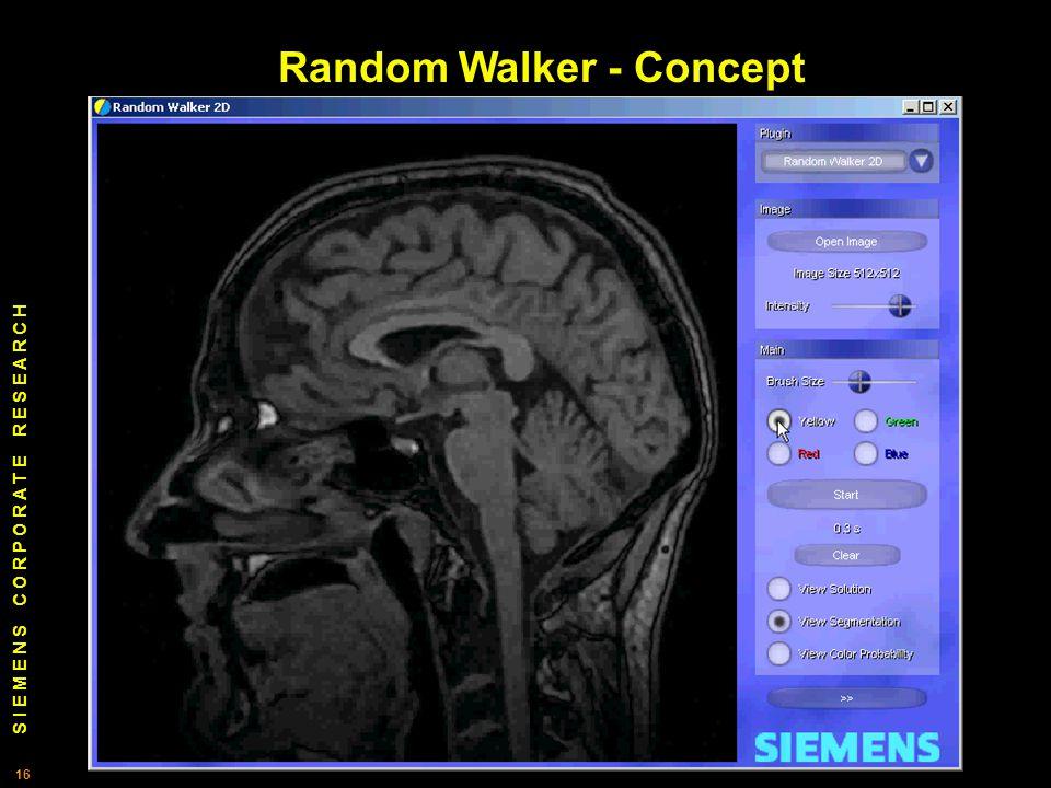 S I E M E N S C O R P O R A T E R E S E A R C H 16 Random Walker - Concept