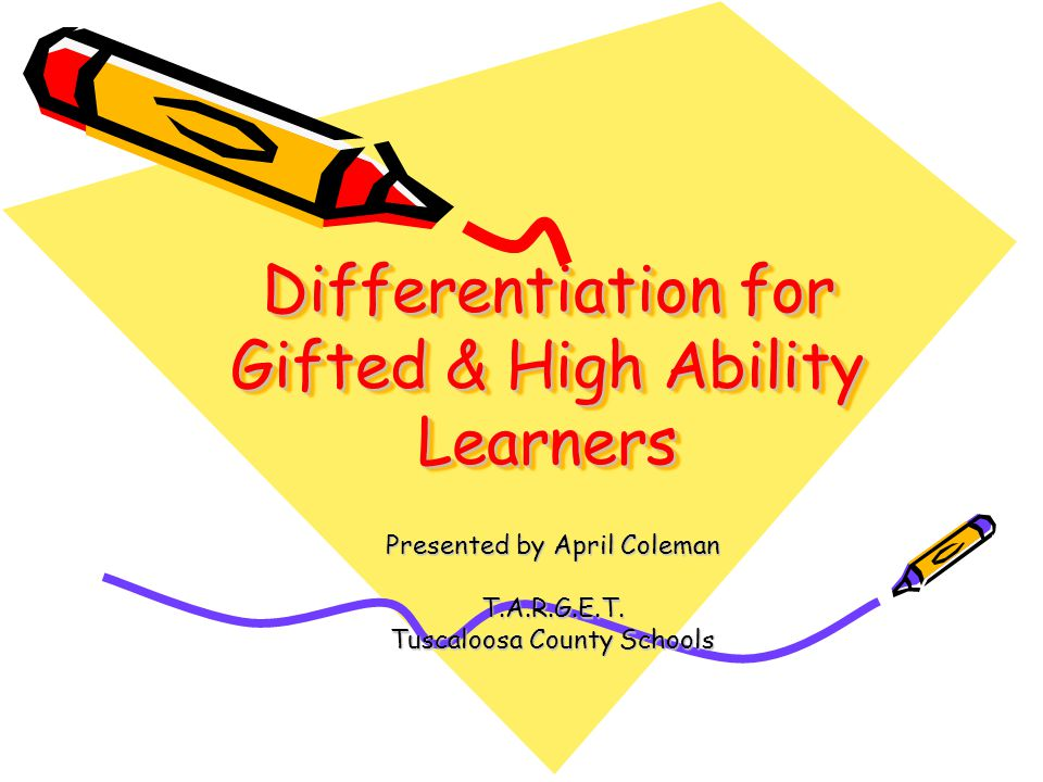Differentiation Strategies Whole Group: Grouping Tiered/Multilevel Activities & Questions Activity Menus Centers Individual Students: Curriculum Compacting Independent Projects Accelerated Learning Mentorships