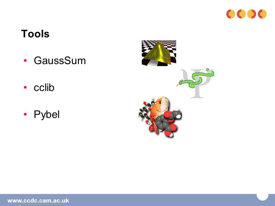 www.ccdc.cam.ac.uk Tools GaussSum cclib Pybel